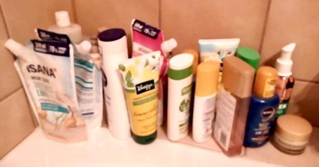 Sammlung von Körperpflegeprodukten